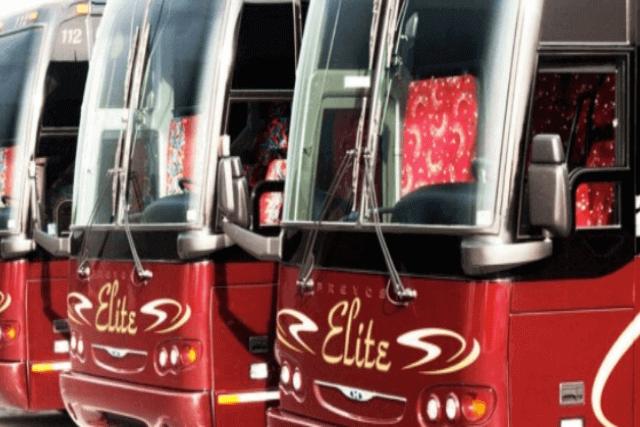 Closeup image of Elite Tour buses