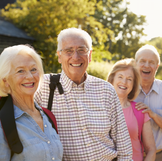 Group of retired couples