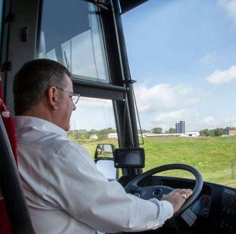Elite coach bus driver
